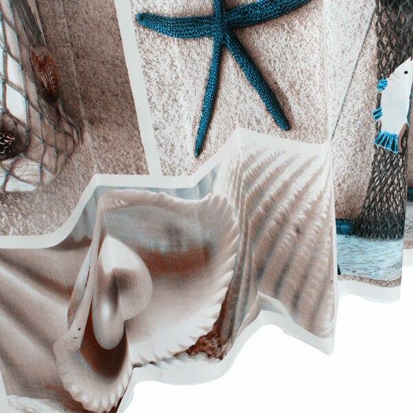 Вероника Цветочный душ Шторы, плесени устойчивы полиэстер Ткань в полоску для Ванная комната, принт, цветок Водонепроницаемый душ Шторы - 3