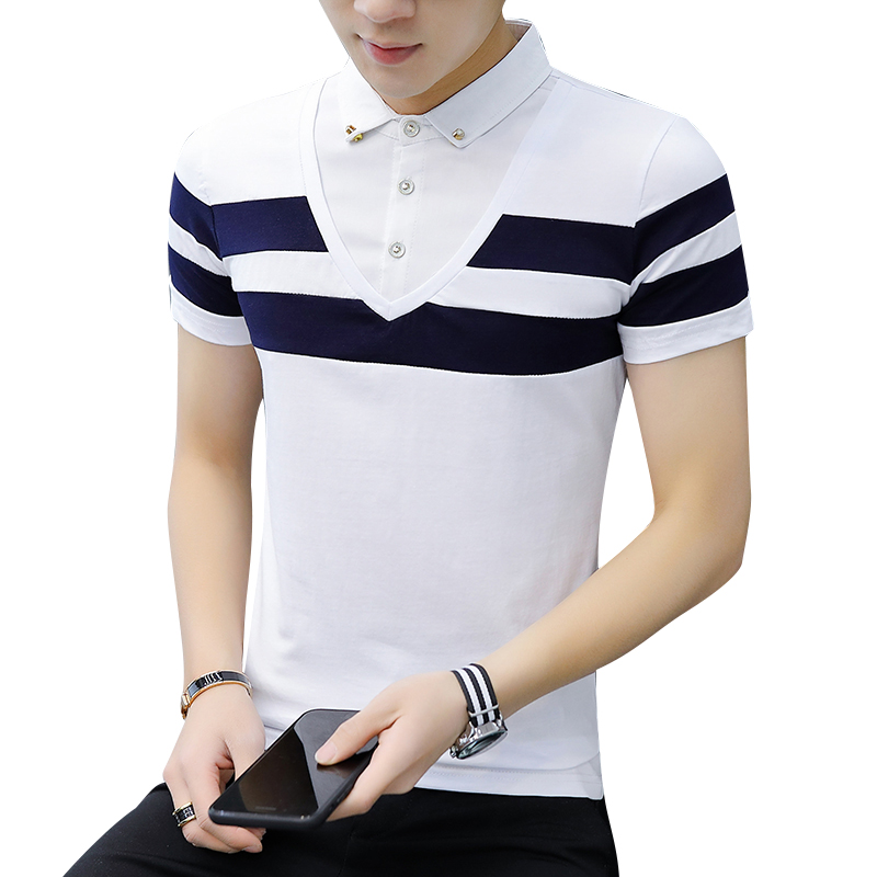 Summer Fashion Brand   Polo   Shirt Men 100%cotton Casual Short Sleeve Shirts Mens   Polo   Tees Hombre Breathable Tops