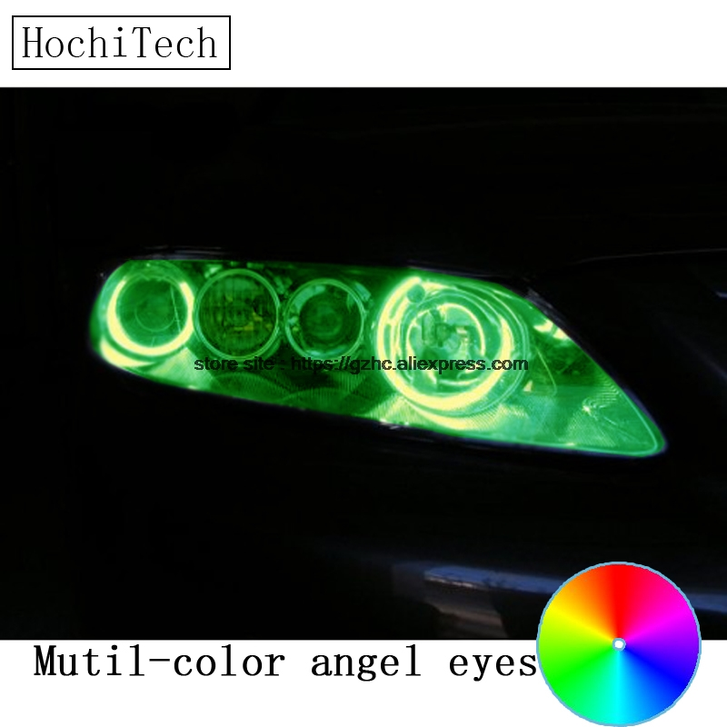 HochiTech for Mazda 6 Mazdaspeed6 2003 - 2007 car styling RGB LED Demon Angel Eyes Kit Halo Ring Day Light DRL remote control hochitech for mazda cx 7 cx 7 2006 2012 car styling rgb led demon angel eyes kit halo ring day light drl with a remote control