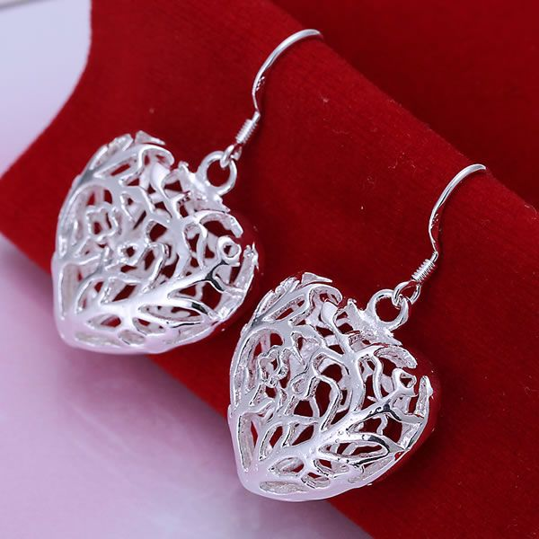 Aliexpress.com : Buy hollow rounded silver plated earrings