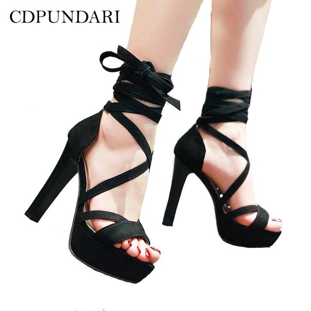 e7d83679860a CDPUNDARI Gladiator Sandals Women High heel Sandals Ankle Strap Platform  Sandals summer shoes woman