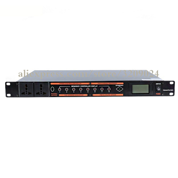 Professional Engineering 10 Multi-function Power Sequencer with Voltage Display Microphone Mixer Power Supply