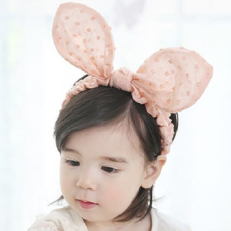 Зайче уши Тел за глава Малки момичета Ластик за коса Детски аксесоари за коса Великденски зайче Деца подарък Новородено Фотоопора 1pc HB570