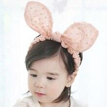 Dětská čelenka s králičími uši ve dvou barvách