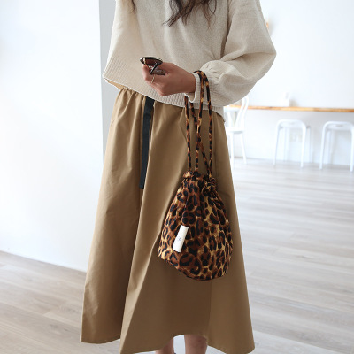 HOT Fashion Shoulder Bag Canvas Handbag Girl String Open Durable Tote Purse Bags Leopard grain Women Personality Messenger Bag handbag