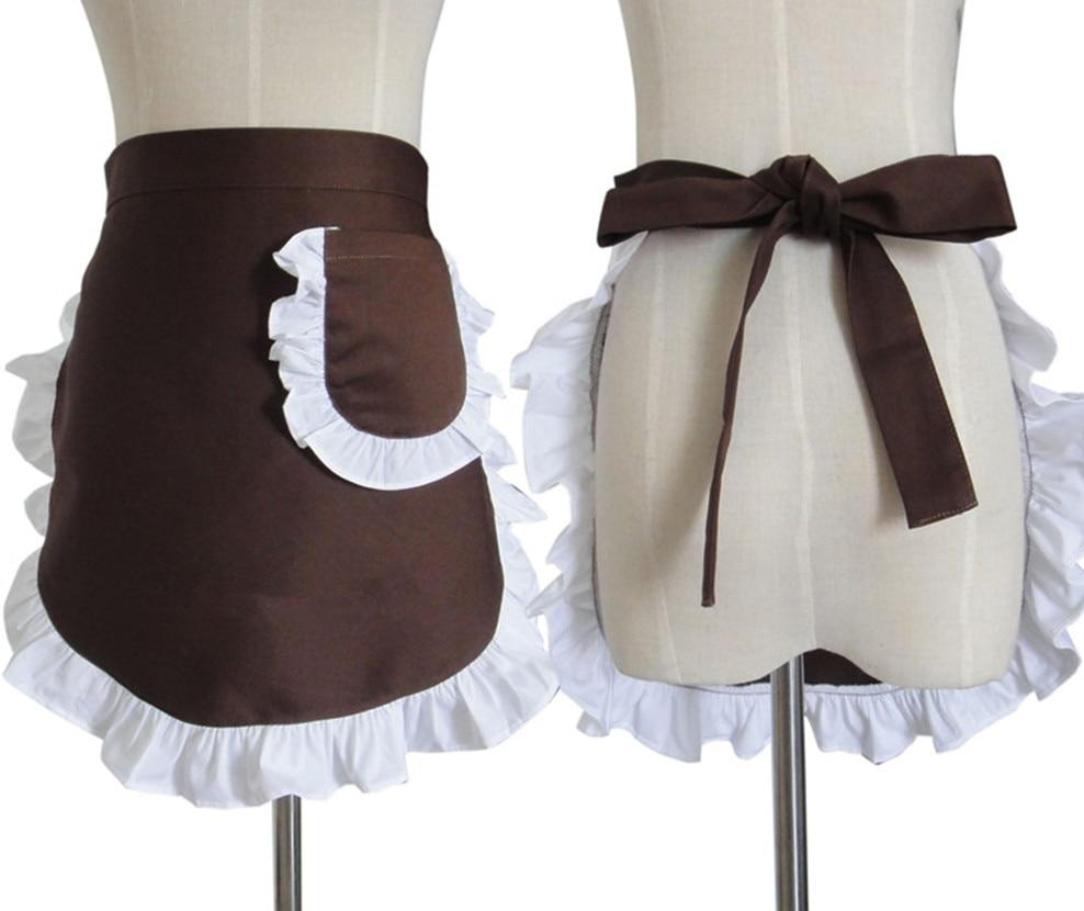White waist apron ruffle - White Waist Apron
