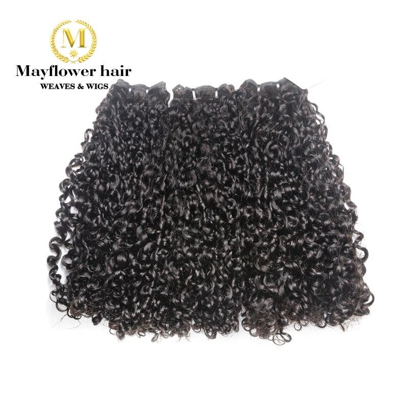 Mayflower Dupla desenhada Remy produtos de Cabelo Funmi cabelo Pequena onda 1/2/3/pacotes de 10 4 -20