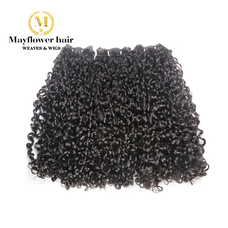 Mayflower Double Drawn Remy Hair Products Funmi Hair Tiny Curl 1/2/3 /4 Bundles From 10-20