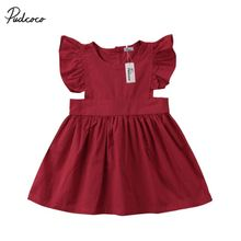 Princess Baby Kids Girls Clothing Cotton Party Pageant Ball Gown Dress Sundress Children Clothes baby girls summer dresses casual cotton kids bow lace ball gown princess dress children clothes