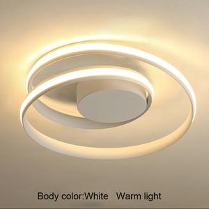 Image 4 - AC85 265V Plafond Verlichting LED Lamp Voor Woonkamer Slaapkamer Studeerkamer Thuis Modern Wit of Zwart opbouw Plafond Lamp