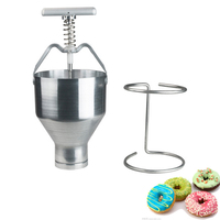 Commercial Mini Manual Donut Maker Machine Cake Donut Hopper with Stand Stainless steel donut molding machine 1pc