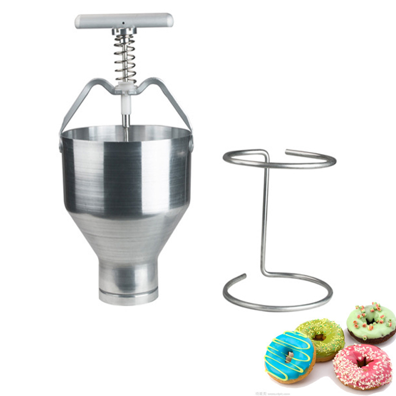 цена на Commercial Mini Manual Donut Maker Machine Cake Donut Hopper with Stand Stainless steel donut molding machine 1pc
