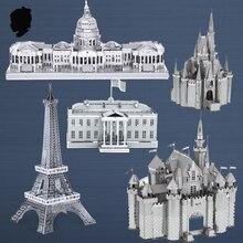 Душа замок Головоломки тыква перевозки Известных зданий по всему миру 3D Металла сборки модели DIY Создать свой мир Коллекция