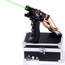2016 new style slingshot JING QUAN Powerful Catapult Slingshot Hunting super  hunting bow with green light