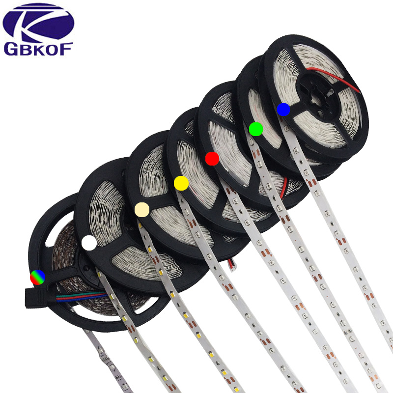 5m 3528 2835 LED strip light RGB tape DC 12V 300leds+RGB remote controller RGB/White/Warm white/Bule/Red/Green/Yellow led ribbon стоимость