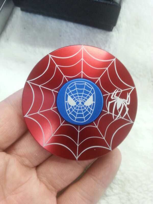 50pcs Captain America iron man spider man batman EDC handspinner Fidget Hand Spinner Metal Fidget Spinner