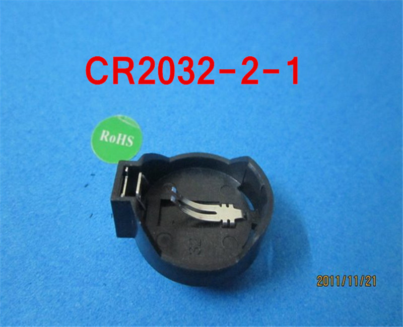 (100pcs/lot)CR2032-2-1 <font><b>Battery</b></font> <font><b>Button</b></font> <font><b>Cell</b></font> <font><b>Holder</b></font> Socket,retail+wholesale.