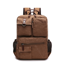 New Arrival Men's Casual Canvas Backpack Multifunctional Tra