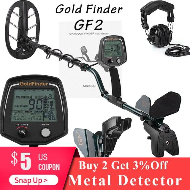 Profissional Detector De Metais Subterrâneo gf2 Candidato A fiação pinpointer Handheld Detector De Metal Underground Ouro Treasure Hunter