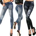 Promocional de La Venta Caliente de Primavera Lápiz Pantalones Vaqueros de Cintura Alta Stretch jeans ajustados pantalones vaqueros de las mujeres