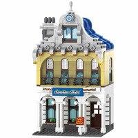 Enlighten City Series Sunshine Hotel houses town Hall Building Blocks Model Sets Bricks Educational Toys for Children gift
