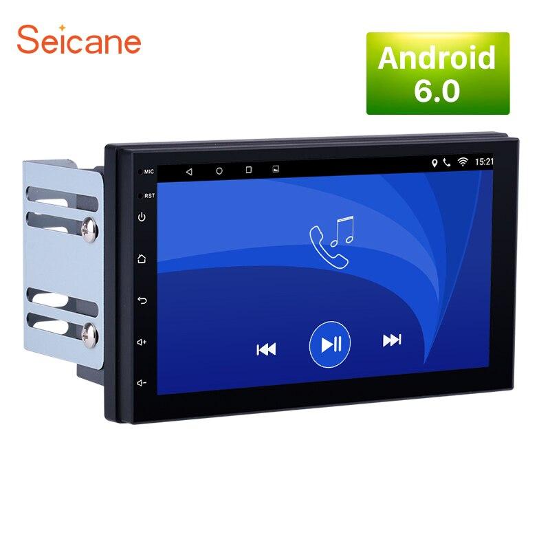Seicane 2 DIN Universal 1024*600 Android 6.0 Car Stereo Radio GPS Navi for Nissan QASHQAI/X TRAIL Hyundai Kia rio TOYOTA COROLLA