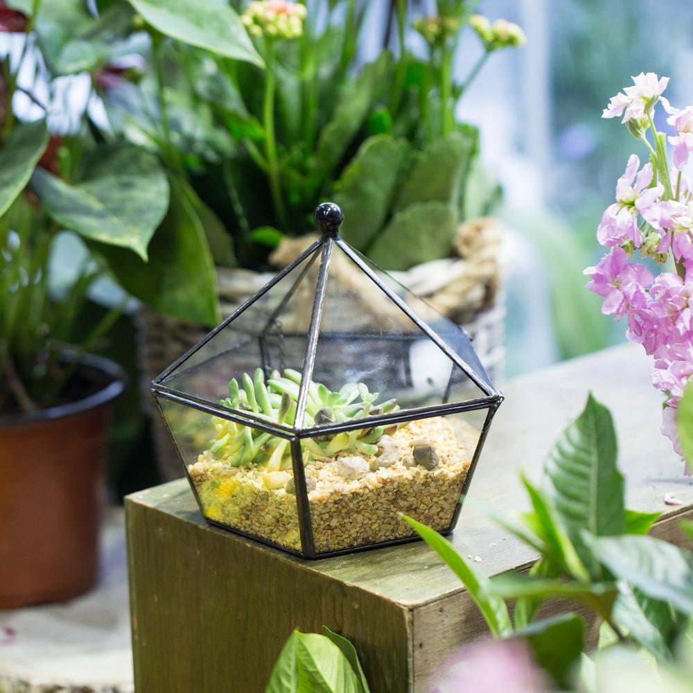 Beltéri virágok Művészi ékszeres dobozos konténer üveg - Kerti termékek