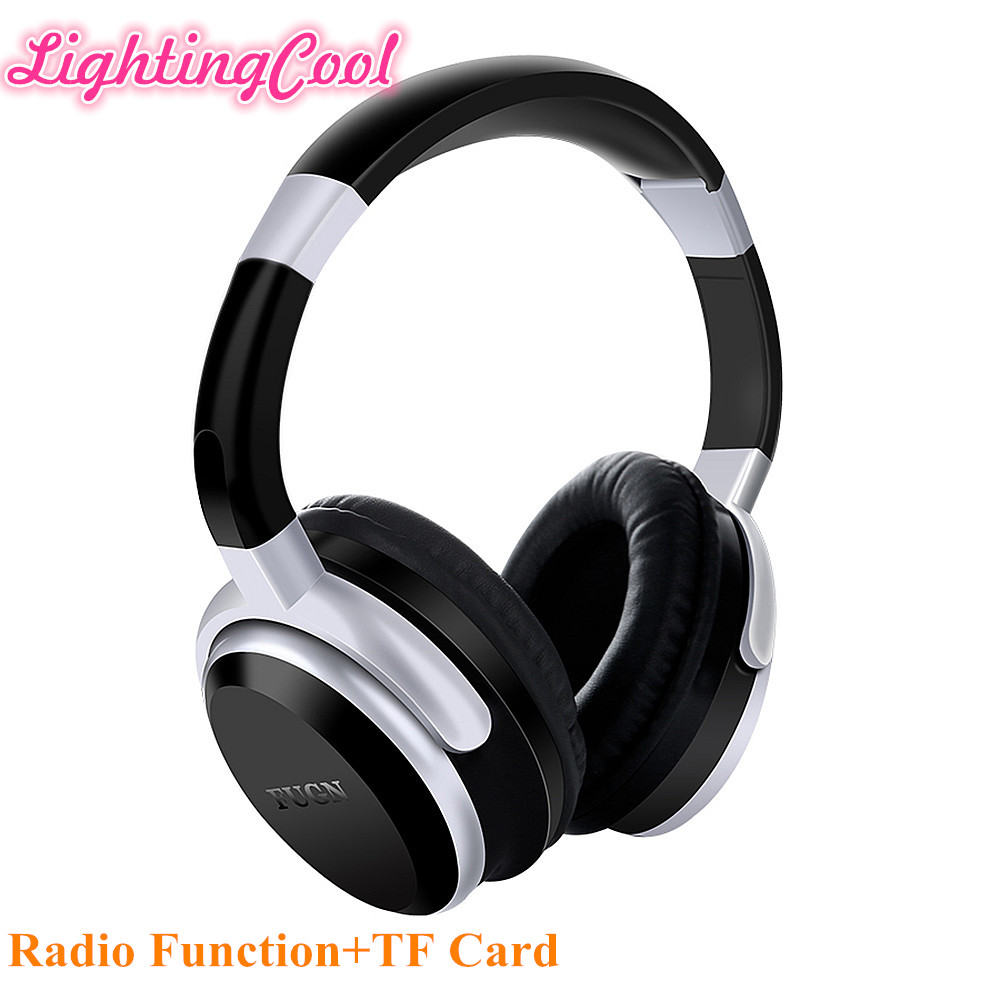 Wireless Bluetooth Headphones, Over Ear Foldable, TF card play, FM radio, Audio Input with MIC for Iphone Android phones high quality zealot b5 bluetooth wireless headphones foldable tf card over ear hd headphone headsets with mic