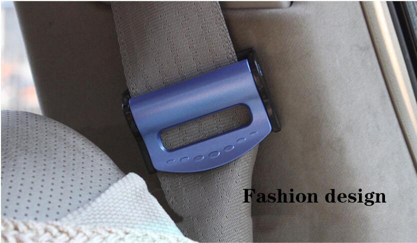 2 шт./компл. автомобильного ремня безопасности, Зажимы Пряжка ремня безопасности фиксаторы уход за кожей лица маска клипсы для ношения на поясе для Ford VW Audi автомобилей синий и красный цвета серебристый, черный - Название цвета: Blue