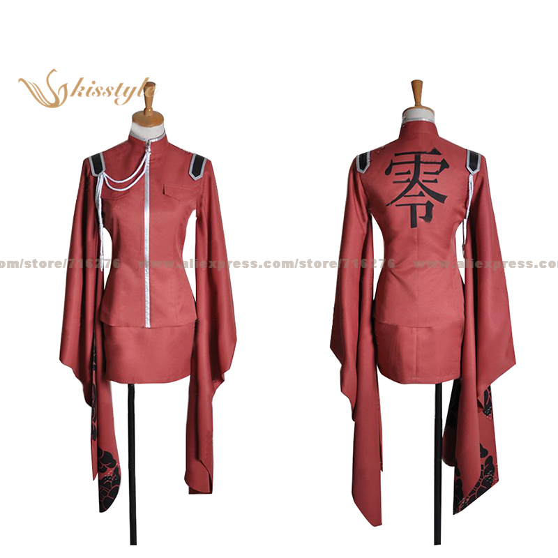 Kisstyle Fashion VOCALOID Hatsune Miku MEIKO Senbon Sakura RED Uniform COS Clothing Cosplay Costume,Customized Accepted