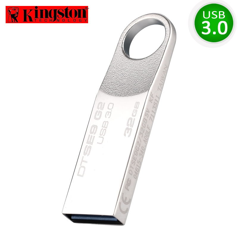 Kingston USB Flash Drive USB3.0 Pendrive 32GB Cle USB 3.0 Metal Pendrives Memory Stick Förvaringsenhet Memoria U Disk Pen Drive