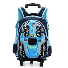 16 in School Bag for Girls with two lighting Wheels Backpack Children Travel Bag Rolling Luggage Schoolbag Mochilas Bagpack