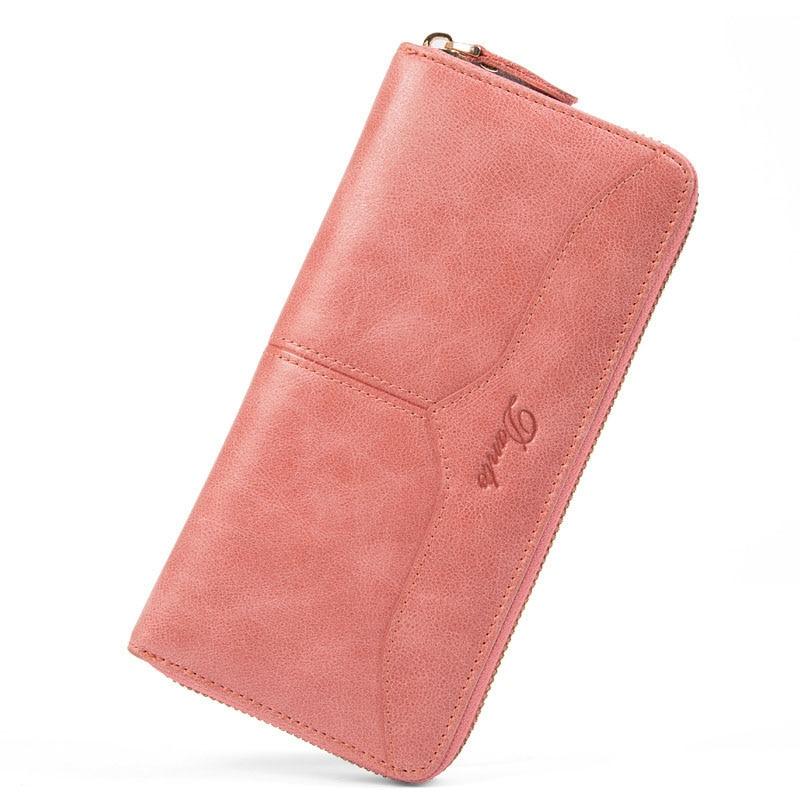 New Women Wallets Genuine Leather Wallet Women Purses Coin Clutch Women's Purses With Zipper Famous Brands Card Holder Wallet