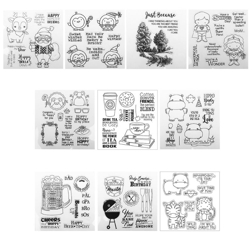 Drink Tea DIY Silicone Clear Stamp Cling Seal Scrapbook Embossing Album Decor