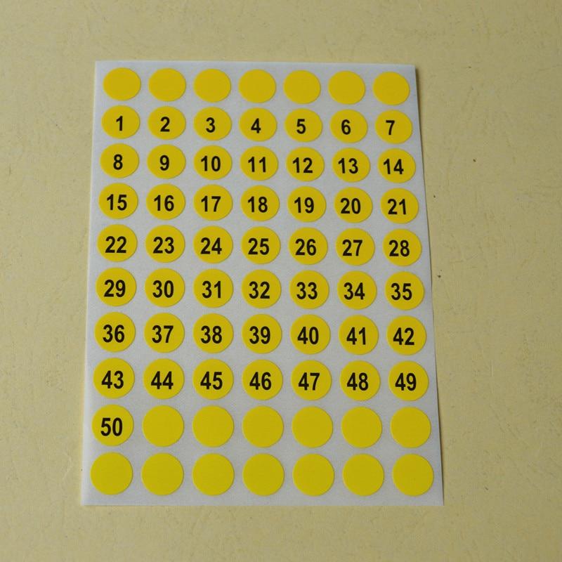 ZGTGLAD 1 φύλλα στρογγυλό αριθμό 1 έως 102 - Τέχνες, βιοτεχνίες και ράψιμο - Φωτογραφία 4