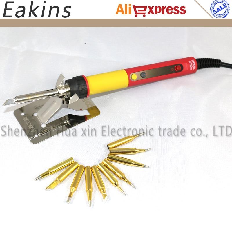 New CXG E60W E90W E110W Professional LED Digital Adjustable Electric Soldering Iron Thermostat soldering iron+10pcs solder tips ноутбук hp probook 655 g2 15 6 1920x1080 amd a10 pro 8700b y3b24ea