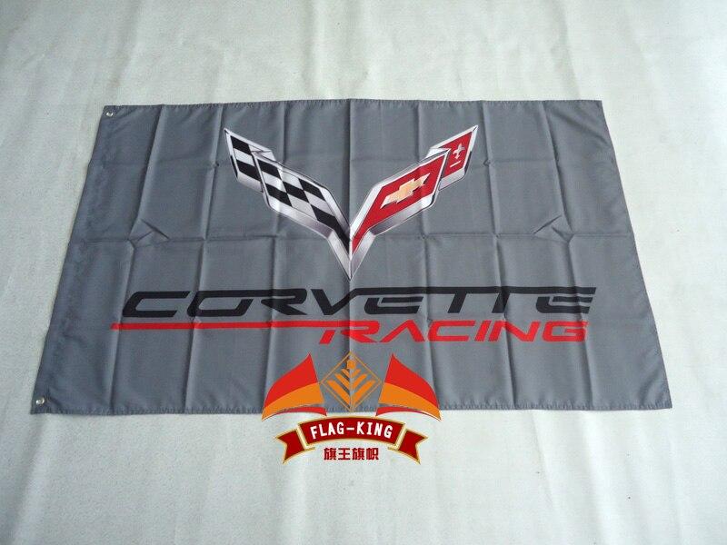CORVETTE Flag 3ftx5ft Banner 100D Polyester Flag Metal Grommets 90x150cm