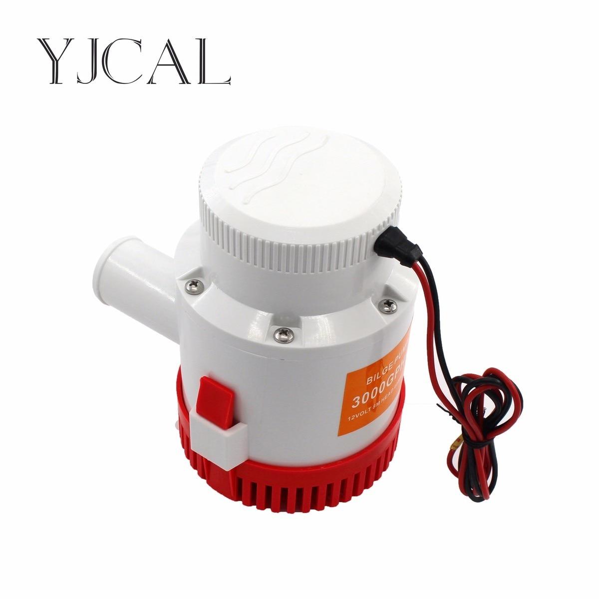 Bilge Pump 3000GPH DC 12/24V Electric Water Pump For Aquario Submersible Seaplane Motor Homes Houseboat Boats