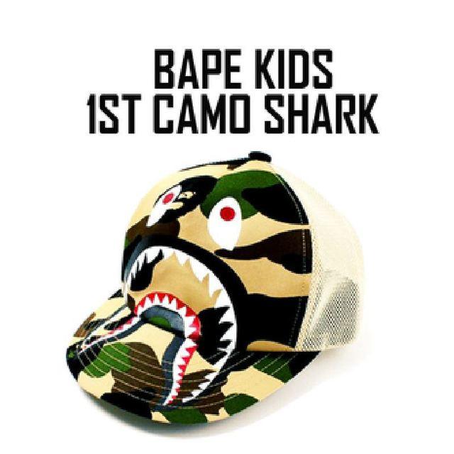 3436cc17ed3 Free shipping bape shark camo mesh baseball cap for kids and adults  head