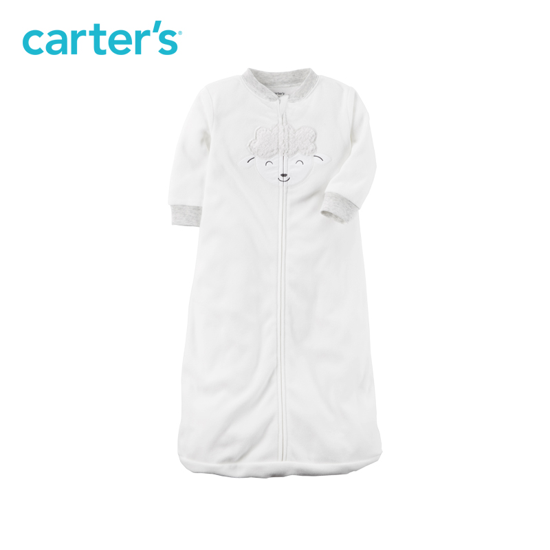 Microfleece lamb safety tab Sleep Bag Zip-front Carter's baby children kids clothing boy girl Spring&Fall 118H710