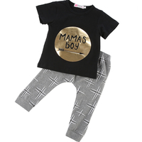 3 6 9 12 18 24M Toddler Baby Infant Mamas Boys Clothes Sets Cute Fashion Jumpsuit