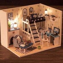 Детский Деревянный 3d кукольный домик «сделай сам» наборы мебели