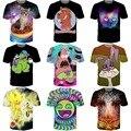 Nueva lindo de la historieta camisetas doobie doo / Reptar / Super Sonic / Trippy Emoji / errores 3D T shirt mujer hombre divertido camisas de las camisetas