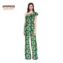 African clothes for women fashion african clothes pant-suit sleeveless top+print cotton wax wide leg pants plus sizeA722605