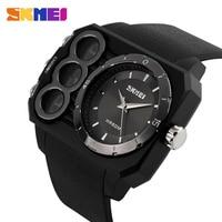 גברים LED שעון צמיד סיליקון כיכר דיגיטלית תצוגת תאריך שעון יד ספורט שעון אור אזעקת רונו תכליתי גברים שעונים