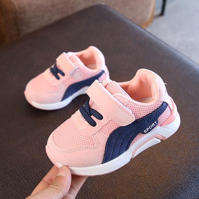 8d7eb6cf61d Hook Loop fashionable girls boys shoes All season sports run baby casual  sneakers elegant cool cute baby infant tennis footwear