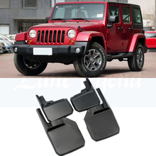 4PCS FRONT+REAR MUD FLAPS FIT FOR JEEP WRANGLER JK 2007-2016 MUD FLAP SPLASH GUARDS FENDER 2015 2014 2013 2012 2011 2009 2010 lsrtw2017 aluminum alloy car door handle trims decoration for jeep wrangler 2008 2009 2010 2011 2012 2013 2014 2015 2016 2017