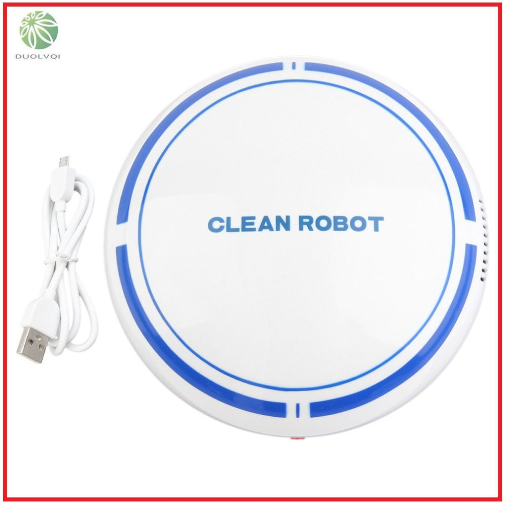 2018 Duolvqi Rechargeable Smart Sweeping Robot Slim Sweep Suction Drag One Machine Small Mini Vacuum Cleaner Sweeping