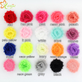 "90pcs/lot Chic Mini Cute 1.5"" Chic Shabby Frayed Fabric Flower without clip 2016 Children Hair Accessories DIY For Kids Headwear"