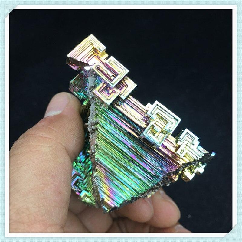 Bismuth Crystals 107g Bismuth Metal crystal bismuth crystals bismuth bi metal crystal rainbow bright metal mineral specimen original nature art artwork decorative article